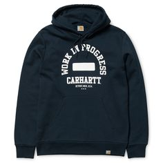 Carhartt WIP Hooded WIP Sweatshirt - Navy/White