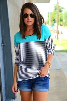 I'm all about those stripes, ya know ;) & the turquoise.