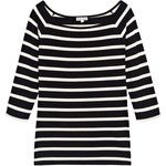 Reiss Nellie Striped Off Shoulder Jersey Top