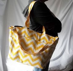 Chevron+diaper+bag++Corn+Yellow+zig+zag+medium+by+ACAmour+on+Etsy,+$55.00