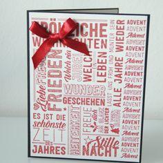 Weihnachtskarte Advent Calendar, Scrapbooking, Holiday Decor, Home Decor, Paper, Xmas Cards, Homemade Home Decor, Scrapbooks, Decoration Home