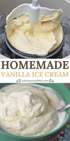 Our homemade vanilla ice cream recipe has been a summer staple for as long as I can remember. How to make it the old fashioned way using an ice cream maker. cream recipes Old Fashioned Homemade Vanilla Ice Cream Recipe Homemade Ice Cream Machine, Making Homemade Ice Cream, Ice Cream Machine Recipes, Vanilla Homemade Ice Cream, Vanilla Ice Cream Maker Recipe, Old Fashion Vanilla Ice Cream Recipe, Ice Cream Maker Machine, Vanilla Ice Cream Recipe For Ice Cream Maker, Desserts