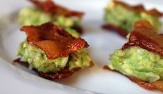 Guacamole Topped Bacon Bites. I could eat this every day