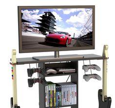 Game Gear Console Video Storage Furniture DVD System Tower Rack Organizer Xbox #Atlantic