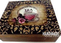 handmade wooden tea box elegant tea box by HandmadeStylishHome
