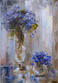 ❀ Blooming Brushwork ❀ - garden and still life flower paintings - Oksana Kravchenko
