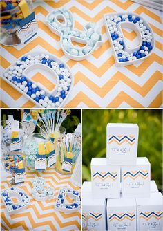 candy table ideas! As a thank you gift (favour) you give guests a box and they can fill up from the candy table!