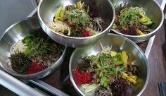 Korean fusion of Bibimpap and Bulgogi Bulgogi, Spirulina, Sprouts, Korean, Lunch, Beef, Vegetables, Food, Meat