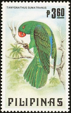 Blue-backed Parrot stamps - mainly images - gallery format