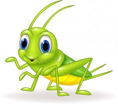 Vector illustration of Cartoon cute green cricket isolated on white background I. - Vector illustration of Cartoon cute green cricket isolated on white background Illustration , - Cricket Logo, Art Basics, Gifs, Screen Wallpaper, Yard Art, Clipart, Painted Rocks, Tweety, Surfboard