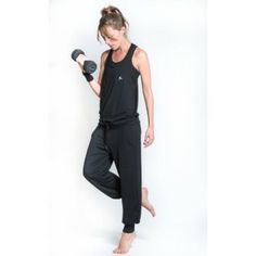 """""""Union"""" All-In-One versatile onepiece training outfit with cross-over sportsbra in black #allinone #onepiece #yoga #pilates #workout #fitness #streetwear #fashion #streetwear #sportsbra #swallow"""