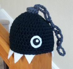 crochet baby hat geekery mario chomp