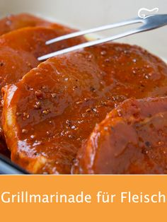 This delicious grill marinade is suitable for all types of meat. So the Fl . - This delicious grill marinade is suitable for all types of meat. This way the meat becomes nice and - Baked Meat Recipes, Stew Meat Recipes, Meat Recipes For Dinner, Hamburger Meat Recipes, Grilling Recipes, Pork Recipes, Chicken Recipes, Crockpot Meat, Dinner Crockpot