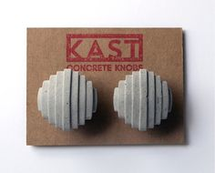 Imagine the delightful contrast of these cast-concrete knobs against a glossy wood cabinet. #etsy #etsyfinds