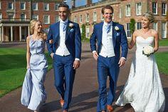 Wedding Groom Slim Fit Blue Mens Suit Wedding Suits For Men Costume Homme Floral Blazer (Jacket+Vest+Pants) Wedding Suit Hire, Blue Suit Wedding, Wedding Men, Wedding Attire, Wedding Dresses, Wedding Groom, Menswear Wedding, Foto Wedding, Wedding Hair