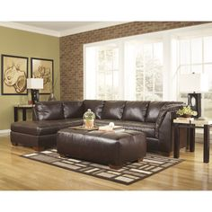 FREE SHIPPING! Shop Wayfair for Signature Design by Ashley Kinston Sectional - Great Deals on all Furniture850$ real leather seat products with the best selection to choose from!