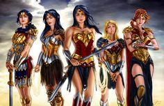 Hippolyta, Donna Troy, Diana, Cassie, and Artemis