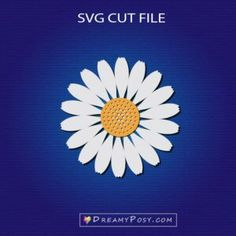 Daisies flowers svg cut files – DreamyPosy templates