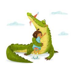 Crocodile Illustration, Cute Animal Illustration, Animal Illustrations, Crocs, Lighthouse Art, Colorful Animals, Little Books, Sea Creatures, Illustrators