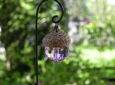 Fairy Garden Lantern acorn cap miniature by TheLittleHedgerow