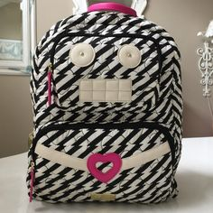 """🤖HP🤖 Betsey Robot Backpack x2 Betsey Robot full size backpack. Measures18.5"""" across & 20"""" up & down & includes depth. 2 outside zipper compartments, inside zippered pocket & phone & pen, pencil holder on other side. NWT 💄HP💄 Chosen 5/13 Total Trendsetter Party🎉 Chosen by 🌺Amanda🌺 @battags424 💄HP💄 8/1 Best in Bags🎉 Chisen by 🌺Dee🌺 @moody_writer Check out Amanda & Dee's closets!😘😘💕💕 Betsey Johnson Bags Backpacks"""