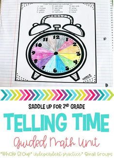 Telling time can be challenging but it doesn't have to be a struggle. This telling time unit features lesson plans, anchor charts, activities, interactive notebook pages, and math centers that you can use all year long.