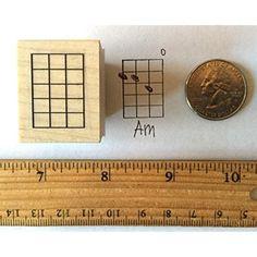 Mini Bass Mandolin Banjo Ukulele Chord Stamp (5 Frets) Rubber Stamp