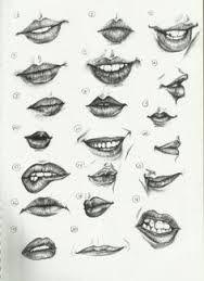 Image result for pencil portrait lips