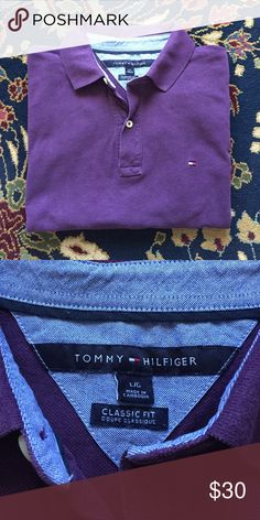 """Tommy Hilfiger Polo Men's Classic and simple. The style, comfort and quality you expect from Tommy Hilfiger. In excellent condition with no issues. 23"""" underarm to underarm and 28.5"""" L Tommy Hilfiger Shirts Polos"""