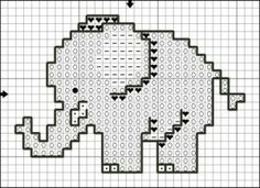 molde de Elefante en punto de cruz