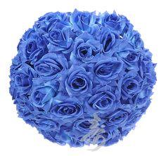 """12"""" Blue Rose Flower Ball Lantern"""