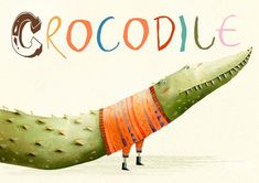 Holly Brown, Crocodile, Handmade Gifts, Outdoor Decor, Artwork, Animals, Vintage, Illustrations, Etsy