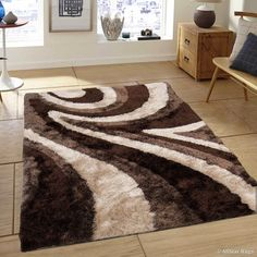 Shop for Allstar Brown Geometric Thick Area Rug x Get free delivery On EVERYTHING* Overstock - Your Online Home Decor Store! Get in rewards with Club O! Living Room Tv Unit, Rugs In Living Room, Living Room Designs, Room Rugs, Leopard Rug, Newborn Crochet Patterns, High Pile Rug, Shaggy Rug, Fru Fru