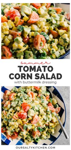 Tomato Corn Salad with Buttermilk Dressing