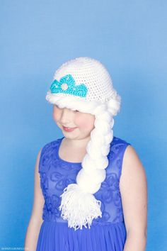 Frozen Princess Elsa Inspired Hat Crochet Pattern -- 2 yr. old granddaughter Ilsa is a fan!