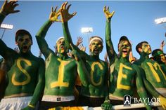 #Baylor students -- this is what we want to see at Floyd Casey Stadium on Sunday. #sicem