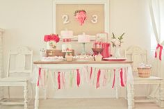 strawberry shortcake party.  Great party planning site!