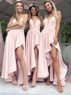 9e59dcca0a6 Spahgetti Straps Blush Pink Cheap Short Bridesmaid Dresses Online