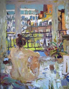 Mungo Powney, Chelsea Morning, 2015, oil on canvas, 107 x 82 cm