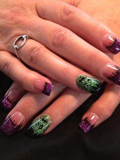 nail art ideas frankenstein