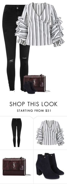 """Untitled #9822"" by fanny483 ❤ liked on Polyvore featuring River Island, Caroline Constas, Yves Saint Laurent and Monsoon"