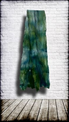 Cobweb Felt Scarf - Hand-dyed Merino / Tencel Felt Scarf by ElevatedFibers on Etsy