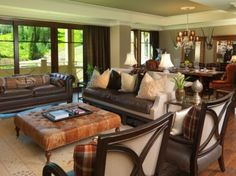Brown Sofa Living Room Design Ideas, Pictures, Remodel, and Decor - page 5