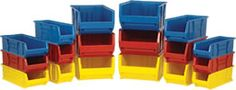 Quantum Plastic Storage Stacking Hulk Container by by Blue Case of 1 * For more information, visit image link. (This is an affiliate link) Large Plastic Storage Bins, Tool Storage, Storage Ideas, Staying Organized, Hulk, Kitchen Dining, Container, Image Link, Organization