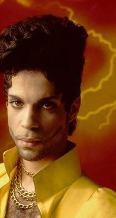 """Prince with the """"typhoon"""" hairstyle. Not my favorite look, but he could rock ANYTHING!"""