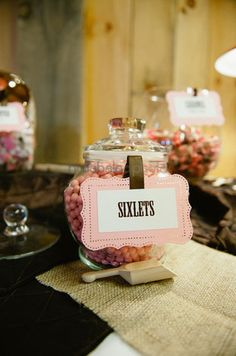e2d5527e1273a4 Cute way to label jars at the candy buffet!  candybuffet Candy Labels