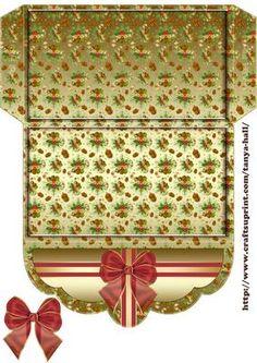 Golden Acorn Christmas Gift Money Wallet