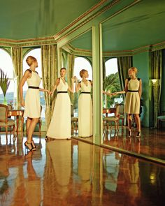 Reversible pleated maxi dress - Cream   Dresses   Ted Baker UK
