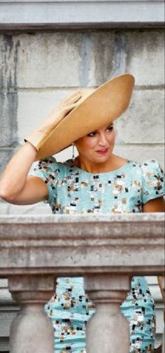 Queen Maxima  at the balcony of the city hall of Maastricht during a ceremony marking the 200th anniversary of the Dutch kingdom on 30.08.2014