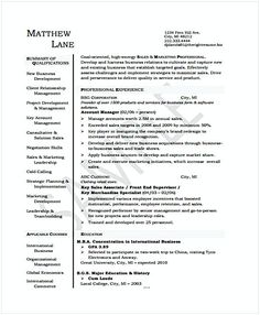 Senior Contract Manager Resume  Resume For Manager Position